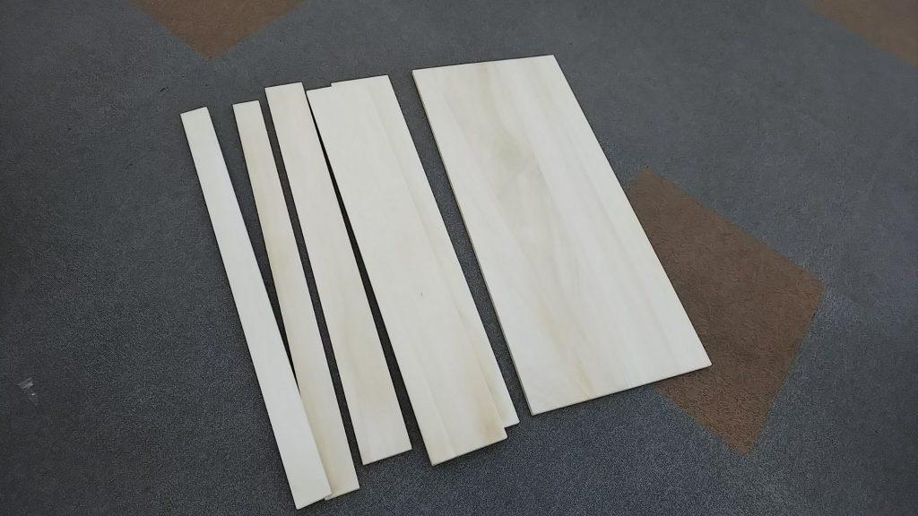木製自作ガンラック材料